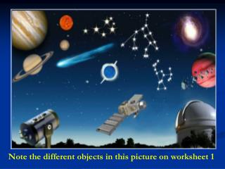 Note the different objects in this picture on worksheet 1