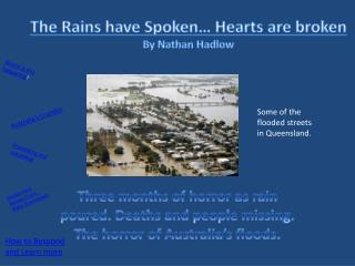 The Rains have Spoken… Hearts are  broken By Nathan  Hadlow