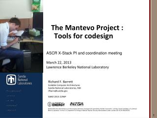 The Mantevo Project : Tools for codesign