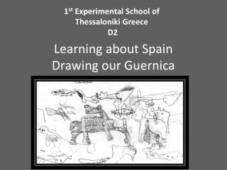 Learning about Spain Drawing our Guernica
