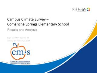 Campus Climate Survey –  Comanche Springs Elementary School