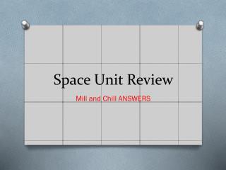 Space Unit Review