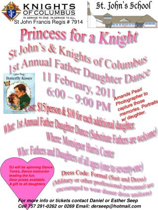 St  John's &  Knights of Columbus  1st Annual Father Daughter Dance 11  February,  2011