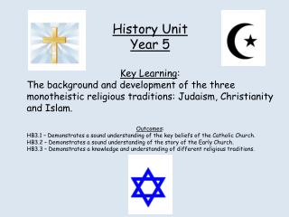 History Unit Year 5 Key Learning :