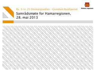 Samrådsmøte for Hamarregionen ,  28 . mai 2013