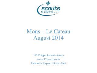 Mons � Le Cateau August 2014