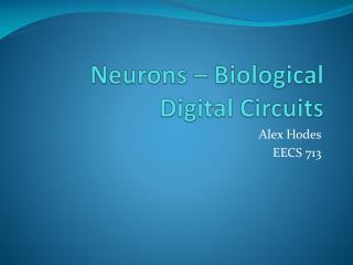 Neurons – Biological Digital Circuits