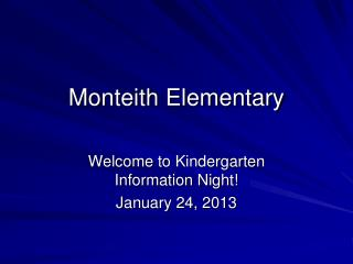 Monteith Elementary