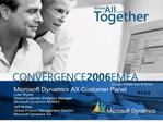 Microsoft Dynamics AX Customer Panel
