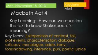 Macbeth Act 4