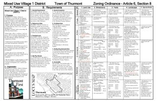 Mixed Use Zoning Proposal