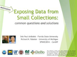 Exposing Data from Small Collections: