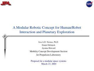 A Modular Robotic Concept for HumanRobot Interaction and ...