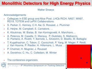 Monolithic Detectors for High Energy  Physics