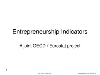 Entrepreneurship Indicators