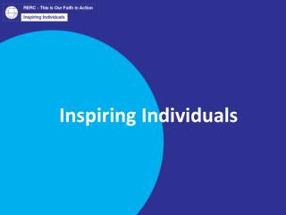 Inspiring Individuals