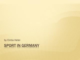 Sport  in Germany