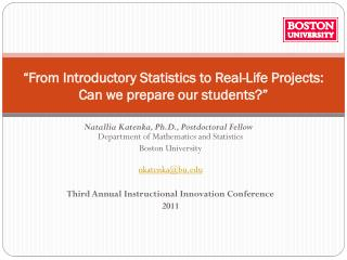 """From Introductory Statistics to Real-Life Projects: Can we prepare our students?"""