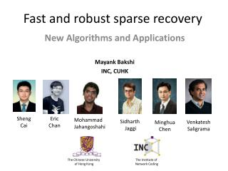 Fast and robust sparse recovery