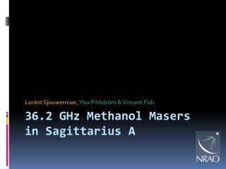 36.2  GHz Methanol Masers in Sagittarius A