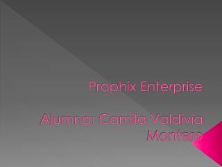 Prophix Enterprise A lumna: Camila Valdivia Montero