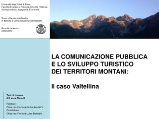 Anno Accademico  2008/2009