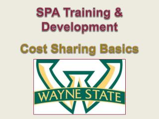 SPA Training & Development Cost Sharing Basics