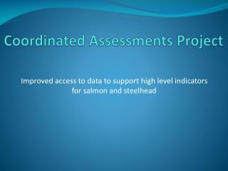 Coordinated Assessments Project