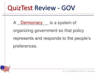 QuizTest  Review - GOV