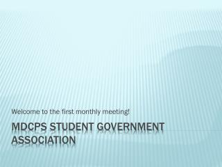 MDCPS Student Government Association