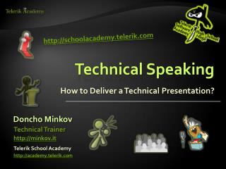 Technical Speaking