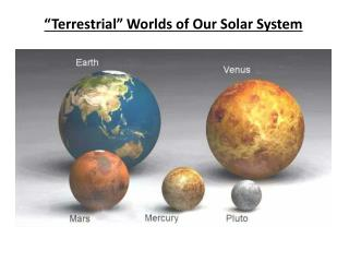 """Terrestrial"" Worlds of Our Solar System"