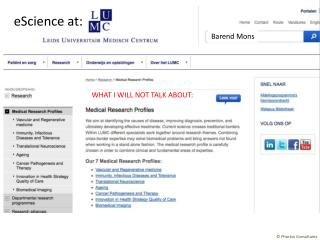 eScience at: