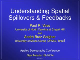 Applied Demography Conference San Antonio 1/8-10/14
