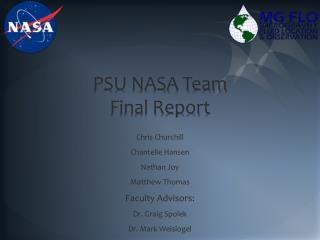 PSU NASA Team Final Report