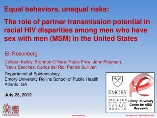 Equal behaviors, unequal risks :