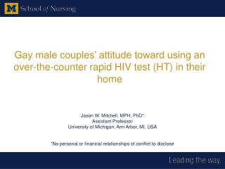 Gay male couples' attitude toward using an over-the-counter rapid HIV test (HT) in their home