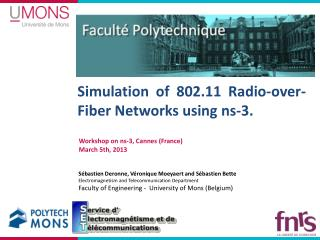 Simulation of 802.11  Radio-over-Fiber Networks  using  ns-3.