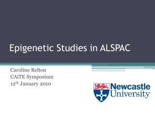 Epigenetic Studies in ALSPAC