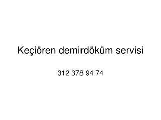 keçiören demirdöküm servisi * 312 378 94 74* demirdöküm komb