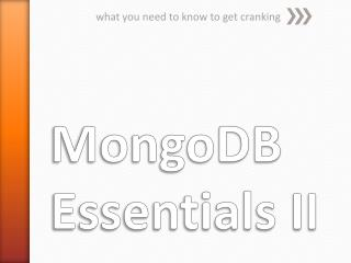 MongoDB Essentials II