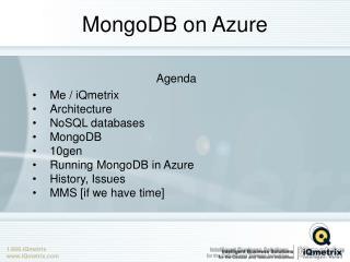 MongoDB on Azure