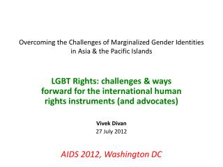 Overcoming the Challenges of Marginalized Gender Identities in Asia & the Pacific Islands