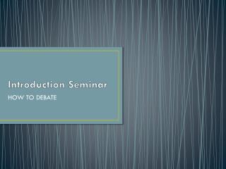 Introduction Seminar