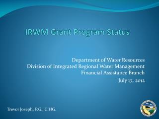 IRWM Grant Program Status