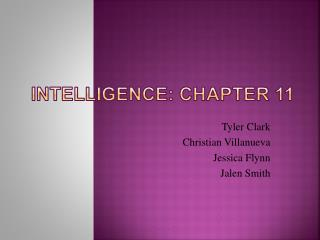 Intelligence: Chapter 11