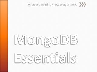 MongoDB Essentials