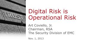 Digital Risk is Operational Risk