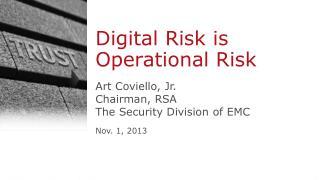 Digital Risk is Operational Risk