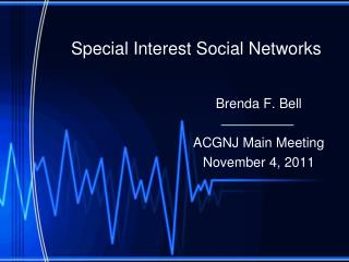 Special Interest Social Networks